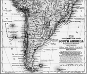 Map of South America, by Samuel Augustus Mitchell,  1839 . From Mitchell's ...