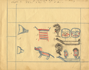 <b>Chapter</b> 3 depicts the  thluuch-ha  party for Harry Thomas. Drawing by Dougl...