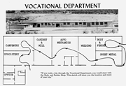 Map of the Vocational Department, Intermountain Indian <b>School</b>, 1956.  Inter...