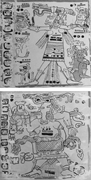 Female deities, likely Chak Chel, are shown producing <b>water</b> from their bodi...