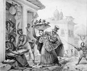 Street entrudo celebrations, ca. 1820s. Jean-Baptiste Debret,  <b>Voyage</b> pitto...