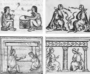 Images from (clockwise from bottom left) Bernardino de Sahagún, Florentine ...