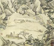 Wen Boren 文伯仁 (1502–1575),  Qianren Zuo  千人座 (Thousand-Man Seats). Yuan alb...
