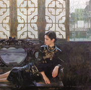 "Chen Yanning, ""The Green Window"" ( Lü chuang  綠窗), 1999. <b>Image</b> reproduced w..."