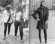 <b>Fashionable</b> veiling over Western-style clothes. Author's personal collectio...