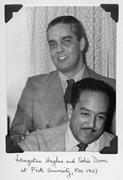 Langston <b>Hughes</b> and Cedric Dover at Fisk University, November 1947. Courtes...