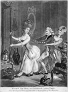 """""""Tight Lacing, or <b>Fashion</b> before Ease,"""" ca. 1777. Courtesy of The Lewis Wal..."""