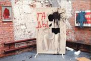 Pieces by Zrazhevskaya ( center ) and Kosolapov ( right ) after the <b>attack</b> ...