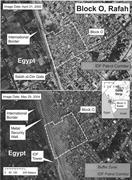 Buffer zone, Gaza-Egypt, 2000–2004. <b>Image</b> from Human Rights Watch 2004. Ima...