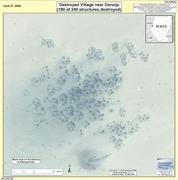 """Destroyed Village near Darurja, Darfur, Sudan,"" June 21, 2004. <b>Image</b> by Hu..."