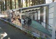 Billboards pledging new worlds ahead, in <b>architecture</b>, late 2000s. Photogra...