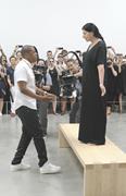 Jay-Z and Marina Abramović at Pace Gallery, New <b>York</b>, July 10, 2013. Courte...