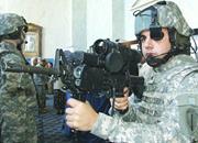 Army soldier modeling <b>Land</b> Warrior gear in Washington, DC. Photograph sourc...