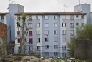A housing <b>project</b> built near the São Mateus neighborhood in São Paulo after...