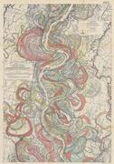 <b>One</b> of Harold Fisk's maps of the Mississippi River's historical meandering,...