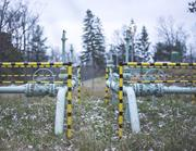 Pipeline right-of-<b>way</b> in Tiadaghton State Forest, PA. Photograph by Nina Be...