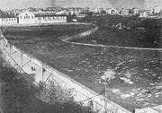 Surp Hagop cemetery in 1940, after the Istanbul municipality razed it to th...