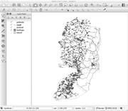 A screenshot of a GIS map of Palestinian Authority data from 2008, depictin...