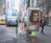 Adbusting with solvent by Spanish artist Vermibus in New <b>York</b>. Photograph b...