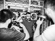 <b>Two</b> veteran friends instruct Mehmet on proper saluting technique.   Figure ...