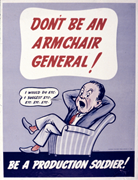 Don't Be an Armchair <b>General</b>!  WPB (1942–1943), NAID 534526.   Figure 1. Do...