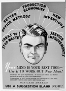 Your Mind Is Your Best Tool—Use It to <b>Work</b> Out New Ideas!  WPB (1942–1943),...