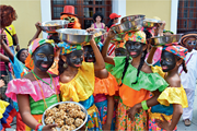 Girls dressed as Palenqueras during Cartagena Independence <b>Youth</b> Parade in ...