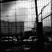Fences and walls, along the periphery of a <b>checkpoint</b>. Qalandia, 2015   Fig...