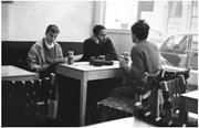 Above and page 77: Stuart Hall at the Partisan coffee house, Soho, London, ...