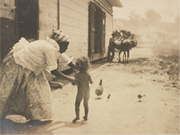 """""""<b>Come</b> into the house honey, dat picture man'll steal you""""; 1904–5. Photogra..."""