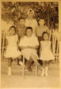 Author's family in El Cercado, Dominican <b>Republic</b>, 1962. Photographer unkno...