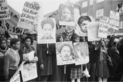 Demonstrators at the Black People's Day of Action, 2 March 1981, London, ca...