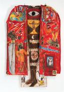 Clara Morera,  The Preboste Juan , 2017. <b>Mixed</b> media on canvas, 72 × 48 in....