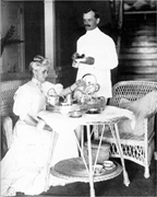 """""""Teatime in the private residence of Division Engineer Col. Gaillard and hi..."""