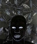 Garçon III , 2018; <b>mixed</b> media on canvas, 8 × 10 in.   Figure 1. Garçon III...