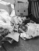 The <b>streets</b> of the modern city are full of discarded books. Photograph cour...