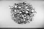 Graham Caldwell,  Compound Eye , 2008. Mirrors, <b>steel</b>, and hardware, 92 × 9...