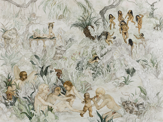 Candice Lin, Birth of a Nation, 2008. Watercolor on paper, 44 × 54 in.