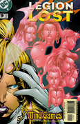 Saturn Girl <b>materializes</b> a psychic projection of her teammates on the cover...