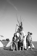 """""""Group of <b>North</b> American Indians about a Wigwam."""" Stock photo purchased via..."""