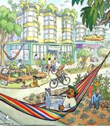 To build our own future, here whimsically <b>imagined</b> by Mona Caron in her Uto...