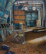 Prison Creative Arts Project   The sign on the cage in this painting,  Deep...