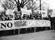 Top: Jo Freeman  Demonstrators <b>protest</b> outside the White House following Ob...