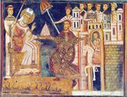Creative Commons  Emperor Constantine, depicted here in an Italian fresco, ...