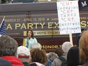 Creative Commons&#x2F;Fibonacci Blue  Tea Party <b>supporters</b>, shown here at a Mich...