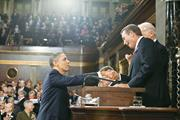 Pete Souza/White House  Obama, shown here shaking hands with House Speaker ...