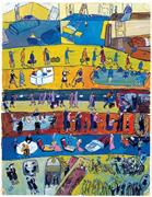 Facing page: Gouache from  <b>Life</b>? Or Theatre?  by Charlotte Salomon ® Collec...