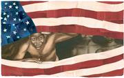 Image © 2008 by Bryan Collier.  Lincoln and Douglas  © 2008 by Nikki Giovan...