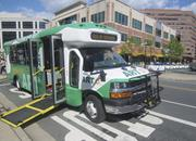 Creative Commons  A <b>bus</b> in Virginia extends a ramp to ensure access for whe...
