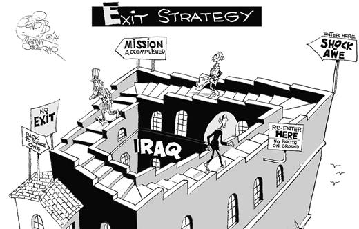 No Exit Strategy by Khalil Bendib.